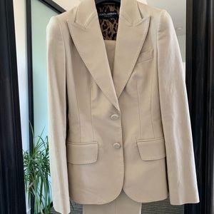 Dolce&Gabbana two piece beige suit